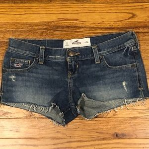 Hollister jean shorts.